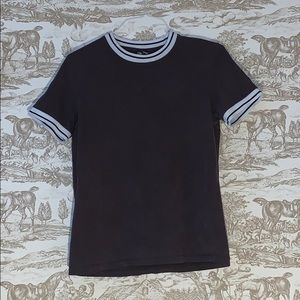tipped neck t-shirt